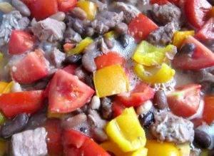 Рагу из фасоли с мясом и овощами - 2