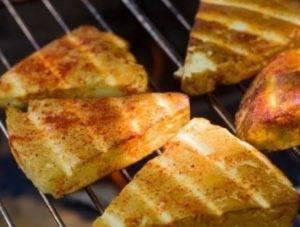 Адыгейский сыр на решетке - 3