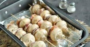 Шашлык из шампиньонов в духовке - 2