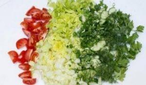 Салат с тунцом и овощами - 0