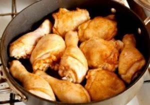 Курица с рисом в томате - 1