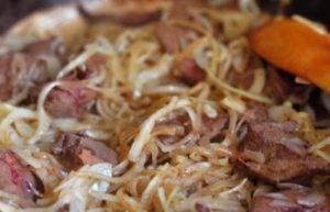 Крем-суп с печенью и грибами - 3