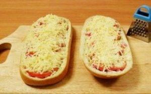 Ленивая пицца на батоне - 3