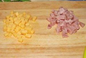 Оладьи с ветчиной и сыром - 1