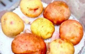 Картофель, запеченный в соли с чесноком и розмарином - 1