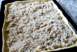 Пирог с консервой и рисом - 1