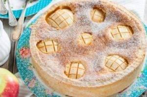 Яблочный пирог с яично-сметанной заливкой - 3