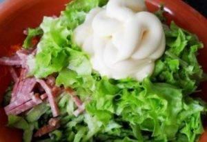 Тарталетки с корейской морковью и салями - 2
