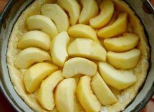 Творожной пирог с яблоками и кокосовой карамeлью - 1