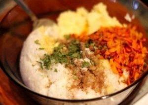 Картофельные котлеты с рисом - 0