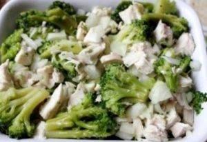 Курица с брокколи, запеченная под сливочным соусом - 2