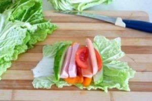 Овощные рулетики на завтрак - 1
