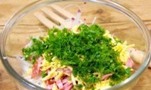 Салат с салями и сыром - 2
