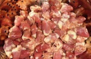 Рагу из куриных сердечек и картофеля - 3
