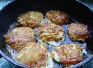 Жареные помидоры с сыром и чесноком - 2