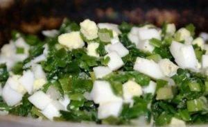 Быстрый (заливной) пирог с зелёным луком и яйцом - 0