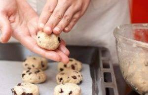 Йогуртовое печенье с изюмом на скорую руку - 2