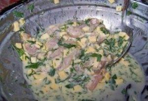 Куриные оладьи с сыром на кефире - 1