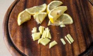 Имбирный чай с калиной и лимоном - 0