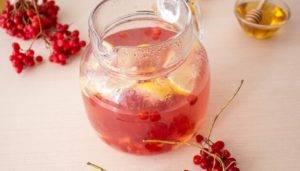 Имбирный чай с калиной и лимоном - 1