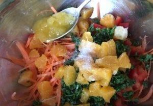 Постный салат с апельсином - 2