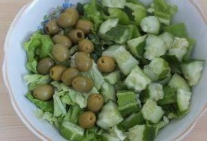 Зелёный греческий салат - 1