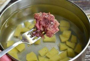 Суп с тушенкой и грибами - 0