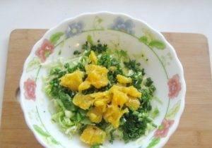 Салат с капустой и апельсином - 1