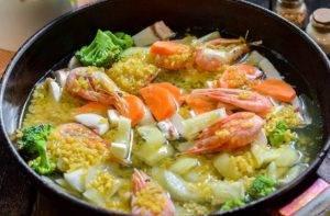Булгур с овощами и креветками - 2