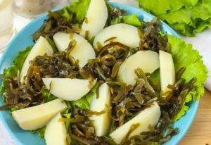 Салат с морской капустой и селедкой - 0