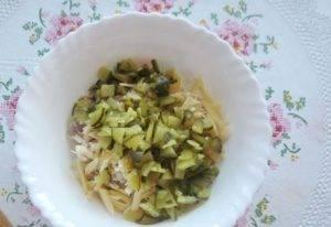 Салат с мясом и жареными шампиньонами - 0
