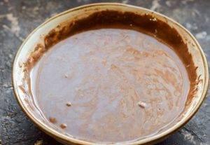 Шоколадные оладьи на молоке - 1