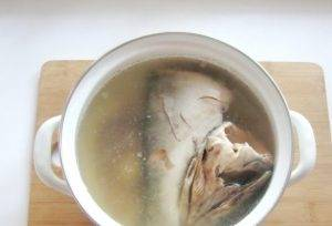 Сливочный суп с красной рыбой - 0