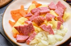 Суп с чечевицей и сыром - 0