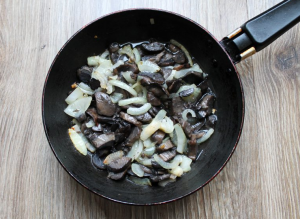 Репа с грибами в духовке - 0
