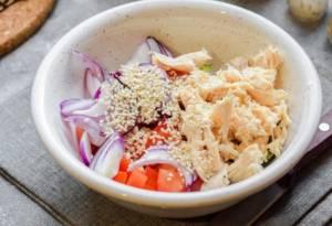 Диетический салат с курицей - 2